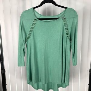 Loft Outlet Hi Lo Tunic in Soft Green
